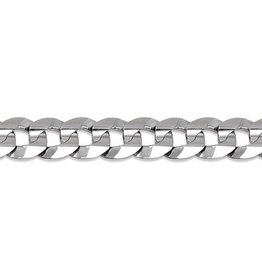 Sterling Silver Curb Link Bracelet (7mm) 8.5""