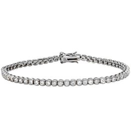 Sterling Silver 925 Rhodium Plated CZ Tennis Bracelet