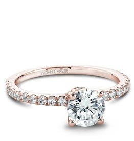 Noam Carver Rose Gold Diamond Mount