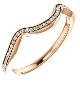 14K Rose Gold Diamond Matching Band (0.08ct)