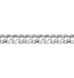 "Curb-W (4.7mm) 8.5"" White Gold Bracelet"