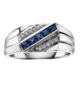 Sapphire & Diamonds White Gold