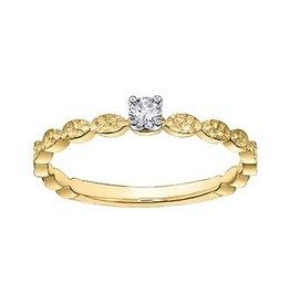 Brilliant (0.08ct) Yellow Gold Diamond Ring