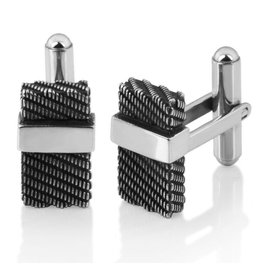 Steelx Steel Antique Black IP Cuff Links