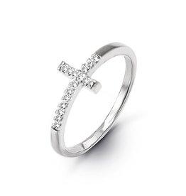 Cross CZ Ring