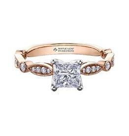 Princess Shaped (1.20ct) Canadian Diamond Ring
