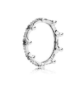 Pandora 197087NCKMX - Enchanted Crown Ring, Clear CZ & Black Crystals