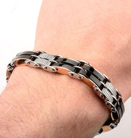 Inox Black & Rose Gold Plated Reversible Bracelet