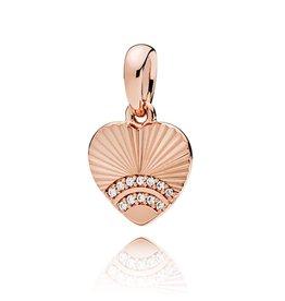 Pandora 387286CZ- Fan of Love Pendant, PANDORA Rose™ & Clear CZ