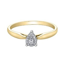 Pear Shaped (0.08ct) Cluster Diamond Ring