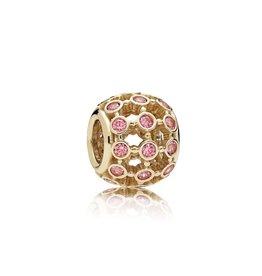 Pandora 750825CZS - In the Spotlight Openwork Charm, 14K Gold & Fancy Pink CZ