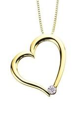 I am Canadian Yellow Gold (0.03ct) Canadian Diamond Heart Pendant