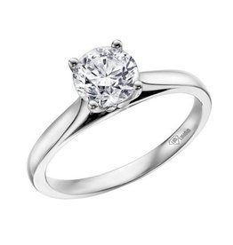I am Canadian White Gold (0.25ct) Canadian Diamond Solitare Ring