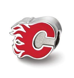 Calgary Flames Enameled Bead