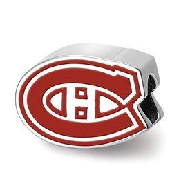 Montreal Canadiens Enameled Bead