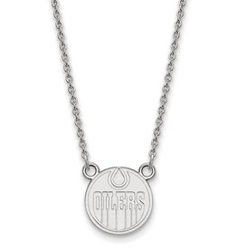Edmonton Oilers Sterling Silver Necklace