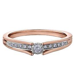 Rose Gold (0.10ct) Diamond Ring
