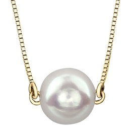 Yellow Gold (7mm) Pearl Necklace