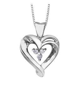Forever Jewellery White Gold (0.02cttw) Diamond Heart Pendant