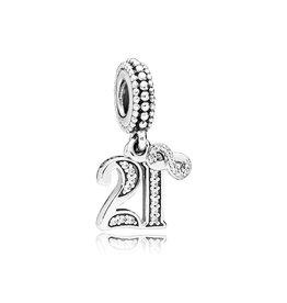 Pandora 797263CZ - 21 Years of Love Dangle Charm, Clear CZ