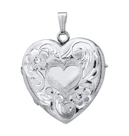 Heart Locket 4 Picture Sterling Silver