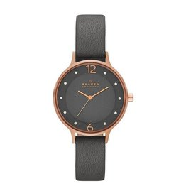 Skagen Anita Grey Leather Watch