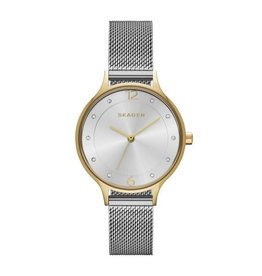 Skagen Anita Two Tone Steel Mesh Watch