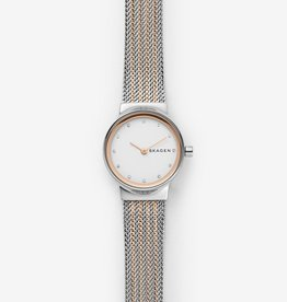 Skagen Freja Two Tone Steel Mesh Watch