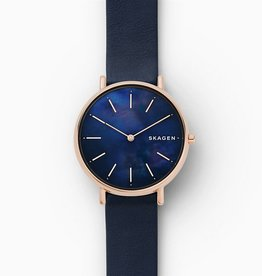 Skagen Signatur Slim Blue Leather Watch