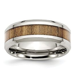 Wood Inlay Stainless Steel Band (8mm)