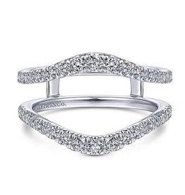 14k White Gold Prong Set Diamond Enhancer