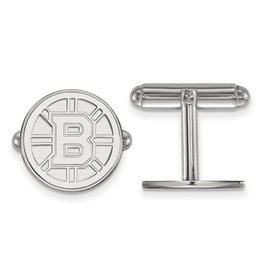 Boston Bruins Sterling Silver Cuff Links