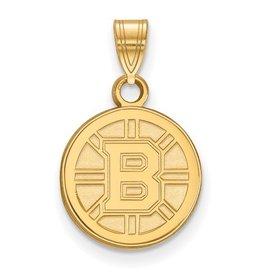Boston Bruins Yellow Gold Pendant (Small)