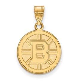 Boston Bruins Yellow Gold Pendant (Medium)