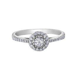 Halo Diamond (0.35ct) White Gold Ring
