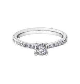 Side Diamond (0.26ct) White Gold Ring