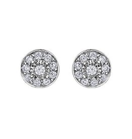 Forever Jewellery Halo Diamond (0.17ct ) White Gold Earrings