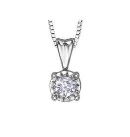 Illuminaire Diamond Pendant (0.20ct ) White Gold