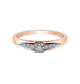 Illuminaire Diamond Ring (0.14ct ) Rose Gold