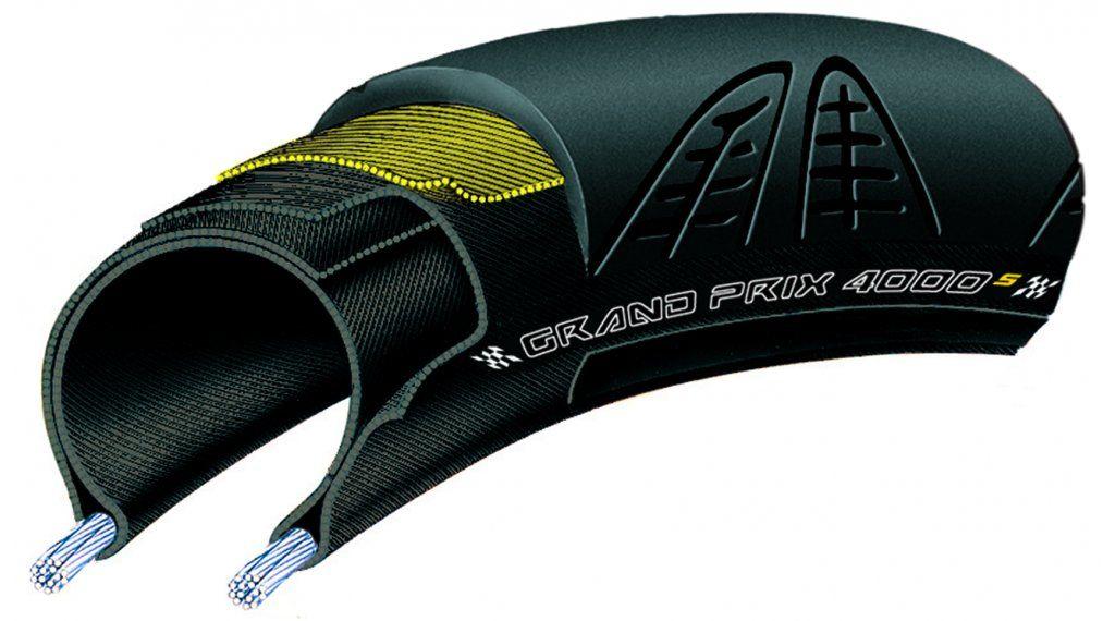 Continental CONTINENTAL Tire, Grand Prix 4000s II Foldable, 700x23C, Black