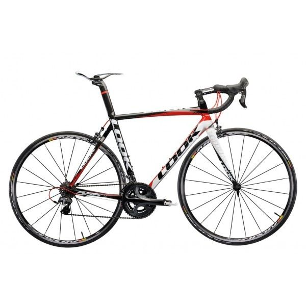 Look LOOK 586 w. Ultegra Complete Bike, Black/White/Red, M