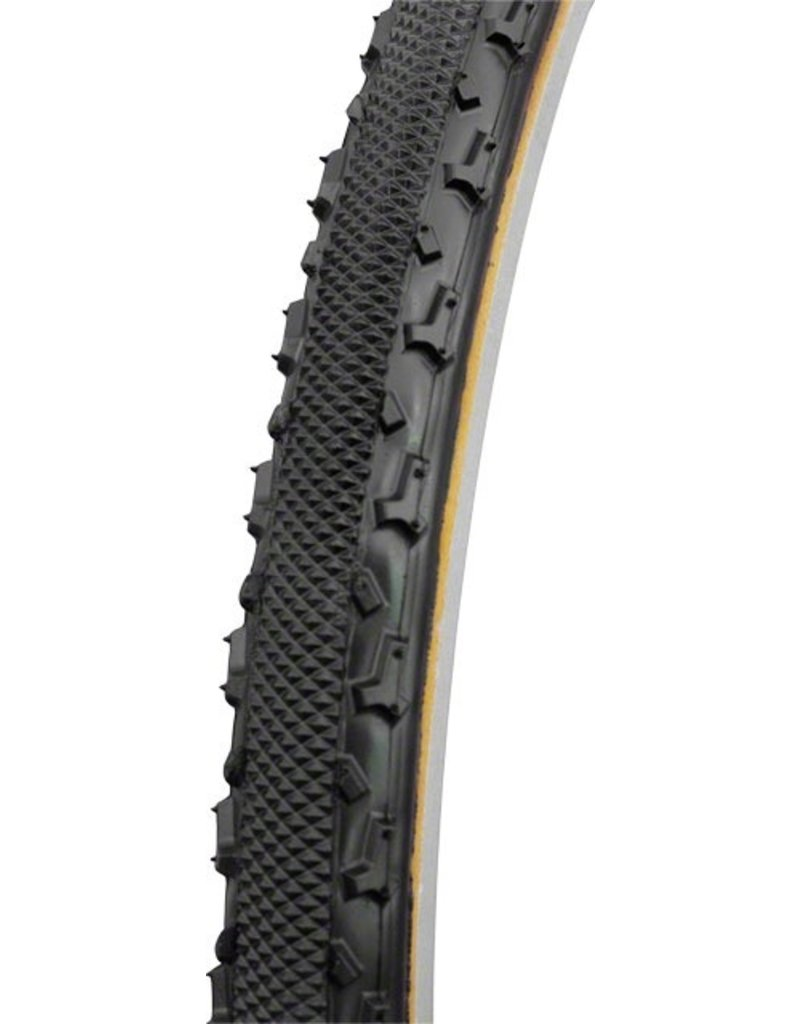 Challenge CHALLENGE Chicane Tubular Cross Tire, 700x33, Black/Brown
