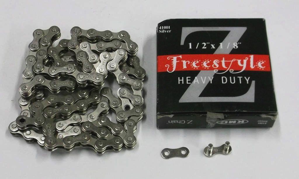 """KMC KMC Z410 Chain. 1/8"""" Silver. Heavy Duty"""