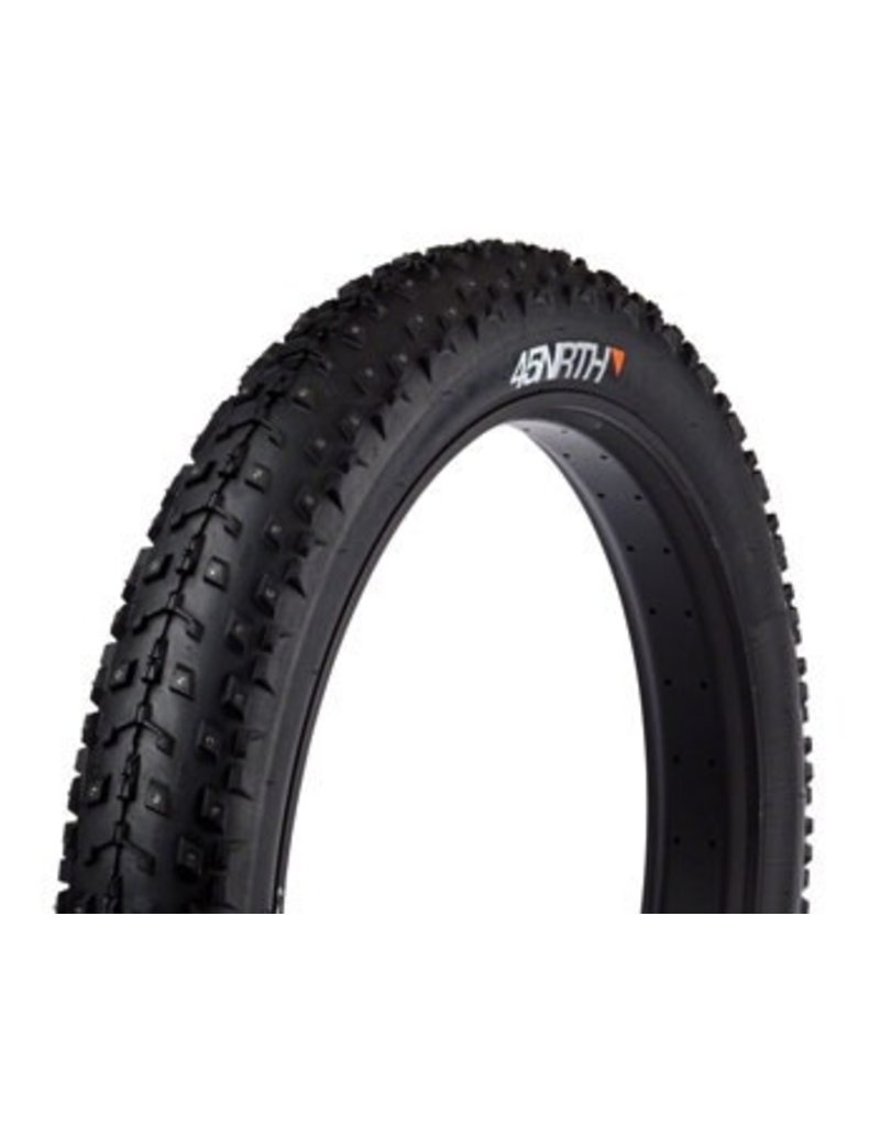 "45NORTH Dillinger 26x4.0"" Studded Fatbike Tire 120 TPI Folding"