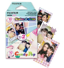 Fujifilm Instax Mini Candypop & Stained Glass Instant Film - Party Pack (20 Exposures)