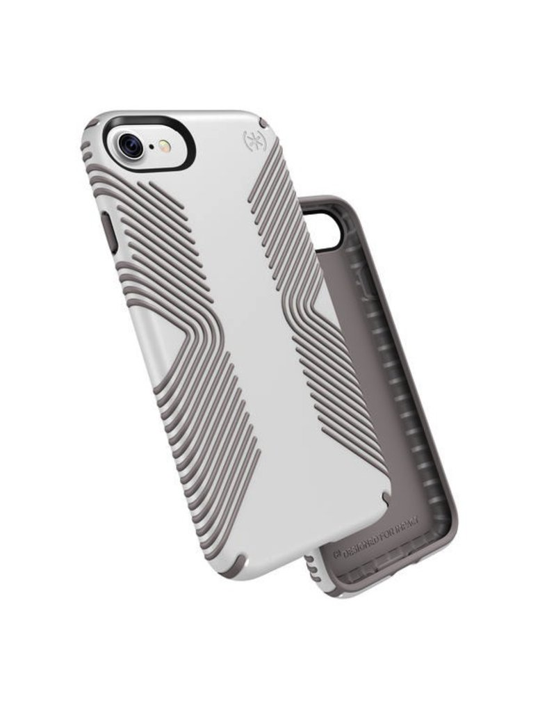Speck Speck Presidio Grip for iPhone 7 - White / Ash Grey