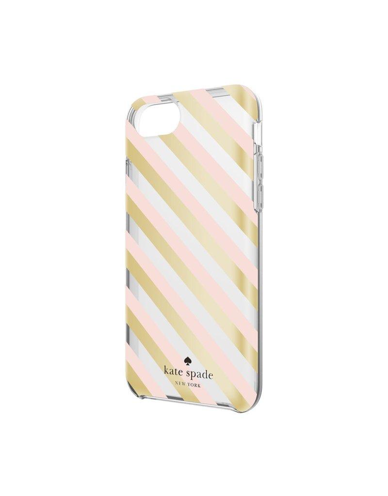 kate spade new york kate spade Comold Case for iPhone 6/6s/7 - Blush / Gold Diagonal Stripe