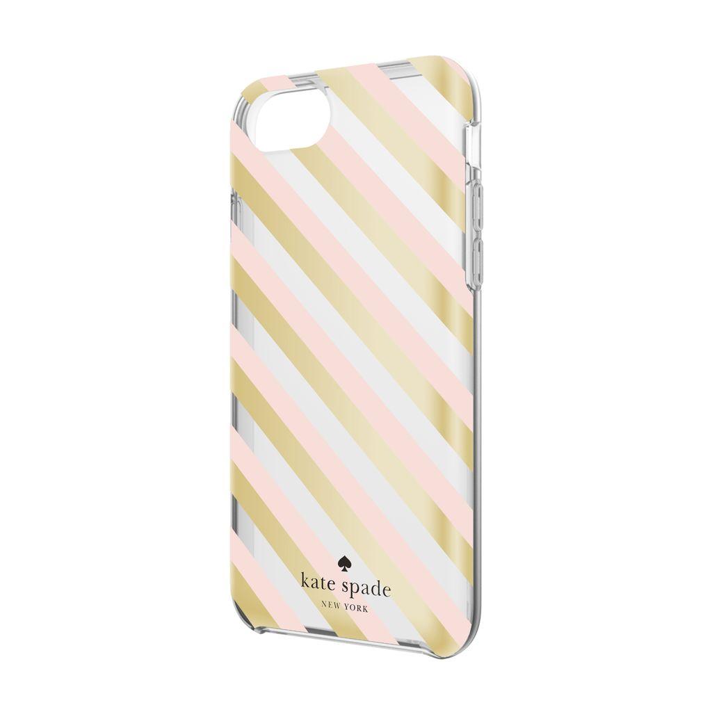 kate spade new york kate spade Comold Case for iPhone 8/7/6 - Blush / Gold Diagonal Stripe