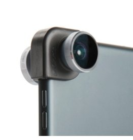 OlloClip 4-in-1 Lens for iPad Air/iPad Mini 1/2/3 - Silver / Black