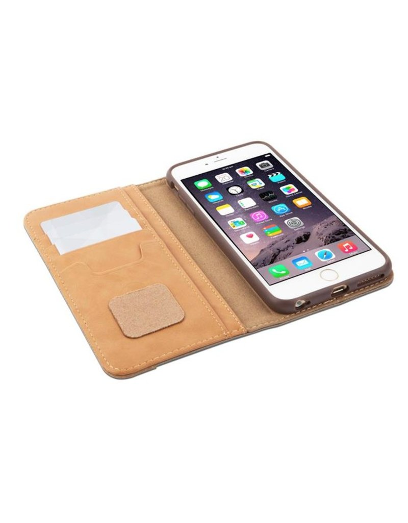 Moshi Moshi Overture Wallet for iPhone 6 Plus / 6s Plus - Dark Silver / Tan